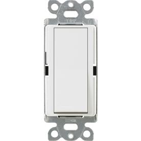 Lutron 15-Amp White Single Pole Decorator Light Switch
