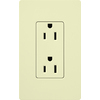 Lutron 15-Amp Almond Decorator Single Electrical Outlet