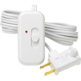 Lutron Credenza 1-Switch 300-Watt Single Pole White Indoor Slide Dimmer