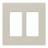 Lutron 2-Gang Limestone Decorator Rocker Plastic Wall Plate
