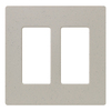 Lutron 2-Gang Stone Decorator Rocker Plastic Wall Plate