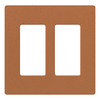Lutron 2-Gang Terracotta Decorator Rocker Plastic Wall Plate