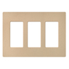 Lutron 3-Gang Desert Stone Decorator Rocker Plastic Wall Plate