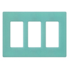 Lutron 3-Gang Sea Glass Decorator Rocker Plastic Wall Plate