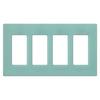 Lutron Claro 4-Gang Sea Glass Quad Decorator Wall Plate