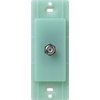 Lutron Claro Satin Color 1-Gang Sea Glass Coaxial Plastic Wall Plate