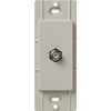 Lutron Claro Satin Color 1-Gang Stone Coaxial Plastic Wall Plate