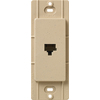 Lutron Claro Satin Color 1-Gang Desert Stone Phone Plastic Wall Plate