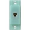 Lutron Claro Satin Color 1-Gang Sea Glass Phone Plastic Wall Plate