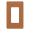 Lutron 1-Gang Terracotta Decorator Rocker Plastic Wall Plate
