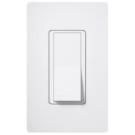 Lutron 15-Amp Claro Snow Single Pole Decorator Light Switch