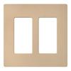 Lutron Claro 2-Gang Desert Stone Double Decorator Wall Plate