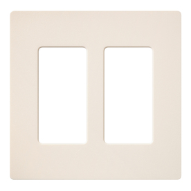 Lutron 2-Gang Eggshell Decorator Rocker Plastic Wall Plate