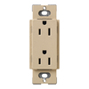 Lutron 15-Amp Desert Stone Decorator Single Electrical Outlet