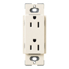 Lutron Claro 15-Amp 120/125-Volt Eggshell Indoor Decorator Wall Outlet