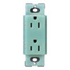 Lutron 15-Amp Sea Glass Decorator Single Electrical Outlet