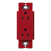 Lutron 15-Amp Hot Decorator Single Electrical Outlet