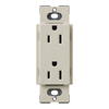 Lutron 15-Amp Limestone Decorator Single Electrical Outlet