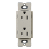 Lutron Claro 15-Amp 120/125-Volt Stone Indoor Decorator Wall Outlet