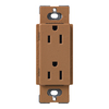 Lutron 15-Amp Terracotta Decorator Single Electrical Outlet