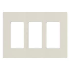 Lutron 3-Gang Light Almond Decorator Rocker Plastic Wall Plate