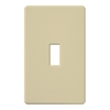 Lutron 1-Gang Ivory Standard Toggle Plastic Wall Plate