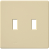 Lutron 2-Gang Ivory Standard Toggle Plastic Wall Plate