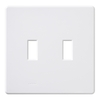 Lutron 2-Gang White Standard Toggle Plastic Wall Plate