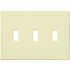 Lutron Fassada 3-Gang Almond Triple Decorator Wall Plate
