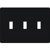 Lutron Fassada 3-Gang Black Triple Toggle Wall Plate