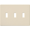 Lutron Fassada 3-Gang Light Almond Triple Toggle Wall Plate