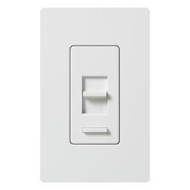 Lutron Lumea Eco-Dim 1-Switch 600-Watt 3-Way Single Pole White Indoor Slide Dimmer