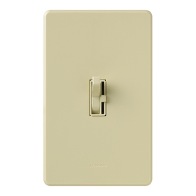 Lutron Toggler 1-Switch 600-Watt 3-Way Double Pole Ivory Indoor Toggle Dimmer