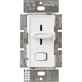 Lutron Skylark 1-Switch 600-Watt Single Pole White Indoor Slide Dimmer