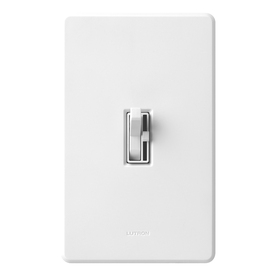 Lutron Toggler 1-Switch 1,000-Watt Single Pole White Indoor Toggle Dimmer