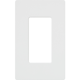 Lutron Claro 1-Gang White Single Decorator Wall Plate