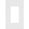 Lutron Claro 1-Gang White Decorator Rocker Plastic Wall Plate