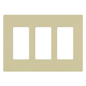 Lutron 3-Gang Ivory Decorator Rocker Plastic Wall Plate