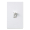 Lutron Toggler 1-Switch 1.5-Amp Single Pole White Indoor Toggle Combination Dimmer and Fan Control
