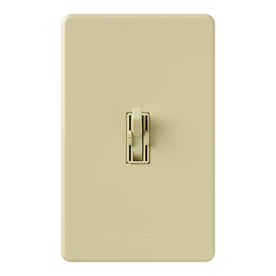 Lutron Ariadni/Toggler 1.5-Amp 300-Watt Ivory Slide Combination Ceiling Fan and Light Control