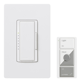 Lutron Maestro Wireless 1-Switch 600-Watt Single Pole White Indoor Remote Control Dimmer