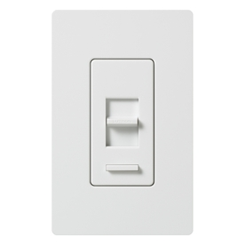 Lutron Lumea 1-Switch 1,000-Watt 3-Way Double Pole White Indoor Slide Dimmer