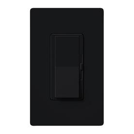 Lutron Diva 1-Switch 600-Watt 3-Way Double Pole Black Indoor Slide Dimmer