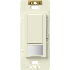 Lutron 2-Amp Maestro Biscuit Occupancy Single Pole Decorator Light Switch