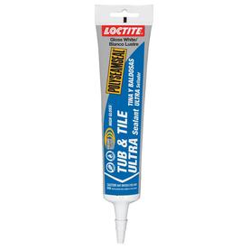 LOCTITE Polyseamseal 6-oz White Paintable Tub and Tile Latex Kitchen and Bathroom Caulk