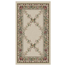 Orian Rugs Kennedy Cream Rectangular Indoor Woven Throw Rug (Common: 2 x 3; Actual: 23-in W x 39-in L)
