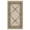 Orian Rugs Inspiration 23-in x 39-in Rectangular Beige Floral Accent Rug