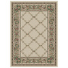 Orian Rugs Kennedy Cream Rectangular Indoor Woven Area Rug (Common: 4 x 6; Actual: 47-in W x 65-in L)