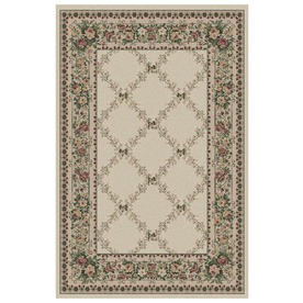 Orian Rugs Kennedy Cream Rectangular Indoor Woven Area Rug (Common: 5 x 8; Actual: 63-in W x 90-in L)
