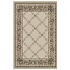 Orian Rugs Inspiration 63-in x 90-in Rectangular Cream/Beige/Almond Floral Area Rug